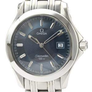 Omega Blue Stainless Steel Seamaster 120M Quartz 2511.81 Men's Wristwatch 36 MM