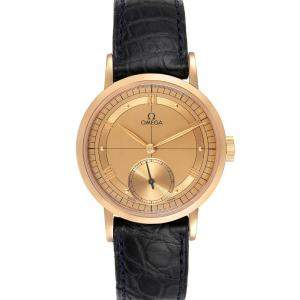 Omega Brown 18k Rose Gold Renaissance 1894 Limited Edition 5950.30.03 Men's Wristwatch 36 MM