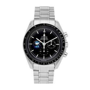 "Omega Black Stainless Steel Speedmaster Professional Moonwatch ""Snoopy"" Limited Edition 3578.51.00 Men's Wristwatch 42 MM"