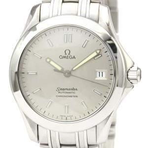 ساعة يد رجالية أوميغا سيماستر كرونومتر 2501.33 ستانلس ستيل فضية 36 مم