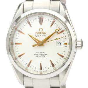 Omega Silver Stainless Steel Seamaster Aqua Terra 2503.34.00 Men's Wristwatch 39 MM