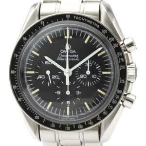 Omega Black Stainless Steel Speedmaster Professional Cal 861 145.022 Men's Wristwatch 42 MM