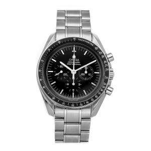 Omega Black Stainless Steel Speedmaster Professional Chronograph 145.0022 Men's Wristwatch 42 MM