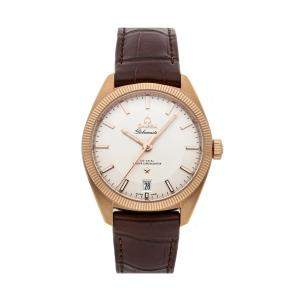 Omega Silver 18K Rose Gold Constellation Globemaster 130.53.39.21.02.001 Men's Wristwatch 39 MM
