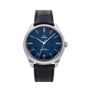 Omega Blue Stainless Steel De Ville Tresor 435.13.40.21.03.001 Men's Wristwatch 40 MM