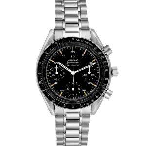 Omega Black Stainless Steel Speedmaster Reduced 3510.50.00 Men's Wristwatch 39 MM