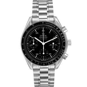 Omega Black Stainless Steel Speedmaster 3510.50.00 Men's Wristwatch 39 MM