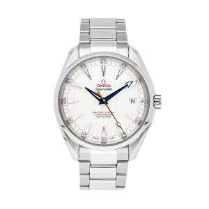 "Omega Silver Stainless Steel Seamaster Aqua Terra ""Golf Edition"" 231.10.42.21.02.004 Men's Wristwatch 41.5 MM"