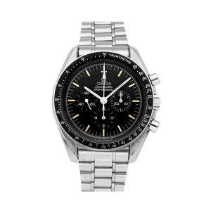 Omega Black Stainless Steel Speedmaster Moonwatch 145.022 Men's Wristwatch 42 MM