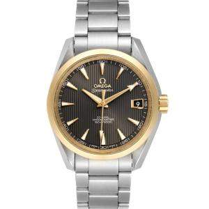 Omega Brown 18k Rose Gold And Stainless Steel Seamaster Aqua Terra 231.20.39.21.06.003 Men's Wristwatch 39 MM