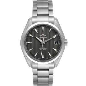 Omega Grey Stainless Steel Seamaster Aqua Terra 231.10.39.21.06.001 Men's Wristwatch 39 MM