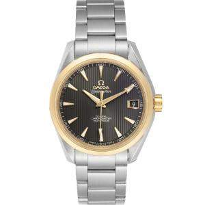 Omega Grey 18k Yellow Gold And Stainless Steel Seamaster Aqua Terra 231.20.39.21.06.004 Men's Wristwatch 41.5 MM