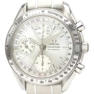Omega Silver Stainless Steel Speedmaster Triple Date 3523.30 Automatic Men's Wristwatch 39 MM