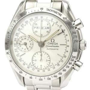 Omega Silver Speedmaster Triple Date Steel Automatic 3521.30 Men's Wristwatch 39 MM