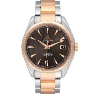 Omega Brown 18K Rose Gold And Stainless Steel Seamaster Aqua Terra 231.20.42.21.06.001 Men's Wristwatch 41.5 MM