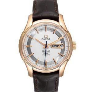 Omega Silver 18k Rose Gold DeVille Hour Vision 431.63.41.22.02.001 Men's Wristwatch 41 MM
