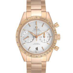Omega Silver 18K Rose Gold Speedmaster 57 331.50.42.51.02.002 Men's Wristwatch 41.5 MM