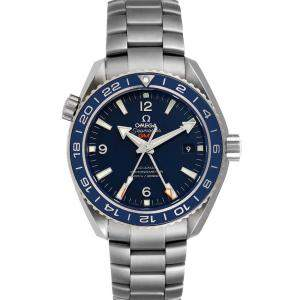 Omega Blue Stainless Steel Seamaster Planet Ocean GMT 232.90.44.22.03.001 Men's Wristwatch 43.5 MM