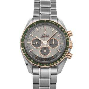 Omega Grey 18K Rose Gold And Stainless Steel Speedmaster Chronograph Tokyo 2020 Limited Edition 522.20.42.30.06.001 Stainless Steel Men's Wristwatch 42 MM