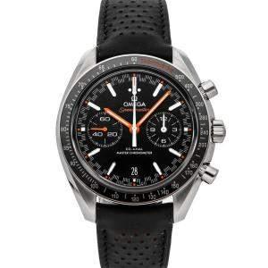 Omega Black Stainless Steel Speedmaster Racing Chronograph 329.32.44.51.01.001 Men's Wristwatch 44 MM
