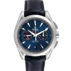 Omega Blue Stainless Steel Seamaster Aqua Terra GMT 231.13.43.52.03.001 Men's Wristwatch 43 MM