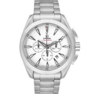 Omega White Stainless Steel Seamaster Aqua Terra Chrono 231.10.44.50.04.001 Men's Wristwatch 44 MM