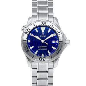 Omega Blue Stainless Steel Seamaster 300m 2263.80.00 Men's Wristwatch 36 MM
