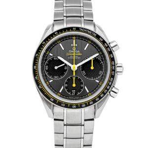 Omega Grey Stainless Steel Speedmaster Racing Co-Axial Chronograph 326.30.40.50.06.001 Men's Wristwatch 40 MM