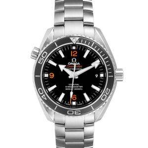 Omega Black Stainless Steel Seamaster Planet Ocean 600M 232.30.42.21.01.003 Men's Wristwatch 42 MM