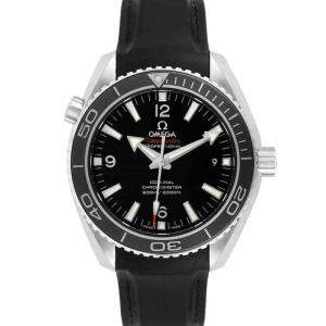Omega Black Stainless Steel Seamaster Planet Ocean Co-Axial 232.32.42.21.01.003 Men's Wristwatch 45.5 MM