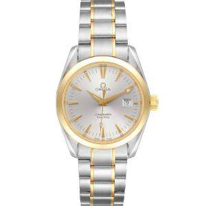 Omega Silver Stainless Steel Seamaster Aqua Terra Yellow Gold 2318.30.00 Men's Wristwatch 36 MM