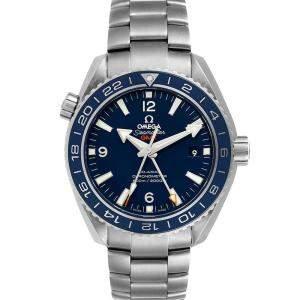Omega Blue Titanium Seamaster Planet Ocean GMT 232.90.44.22.03.001 Men's Wristwatch 43.5 MM