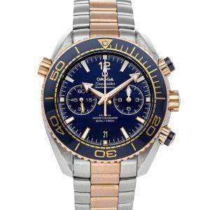 Omega Blue 18K Rose Gold And Stainless Steel Seamaster Planet Ocean 600m Chronograph 215.20.46.51.03.001 Men's Wristwatch 45.5 MM