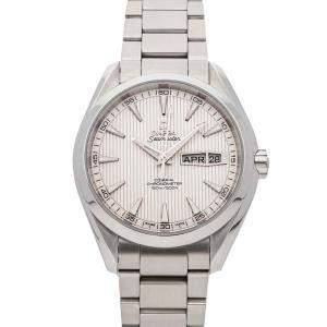Omega Silver Stainless Steel Seamaster Aqua Terra 150m Annual Calendar 231.10.43.22.02.001 Men's Wristwatch 43 MM