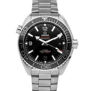 Omega Black Stainless Steel Seamaster Planet Ocean 600m 215.30.44.21.01.001 Men's Wristwatch 43.5 MM