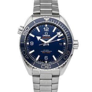 Omega Blue Stainless Steel Seamaster Planet Ocean 600m 215.30.44.21.03.001 Men's Wristwatch 43.5 MM