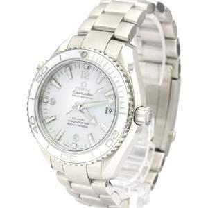 Omega White Stainless Steel Seamaster Planet Ocean 600M 232.30.42.21.04.001 Men's Wristwatch 42 MM