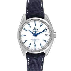 Omega White Titanium Seamaster Aqua Terra 231.92.39.21.04.001 Men's Wristwatch 38.5 MM
