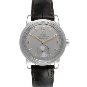 Omega Silver Platinum Seamaster 1948 511.93.38.20.99.001 Men's Wristwatch 38 MM