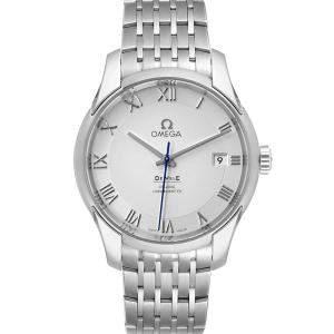 ساعة يد رجالية أوميغا دي فيل  كو-اكسيال كرونو 431.10.41.21.02.001 ستانلس ستيل فضية 41 مم