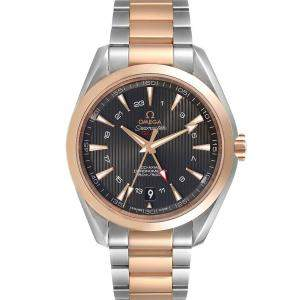 Omega Grey 18K Rose Gold And Stainless Steel Seamaster Aqua Terra GMT Co-Axial 231.20.43.22.06.003 Men's Wristwatch 43 MM