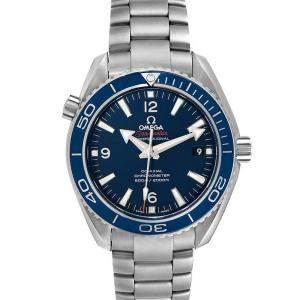 Omega Blue Titanium Seamaster Planet Ocean 232.90.42.21.03.001 Men's Wristwatch 42 MM