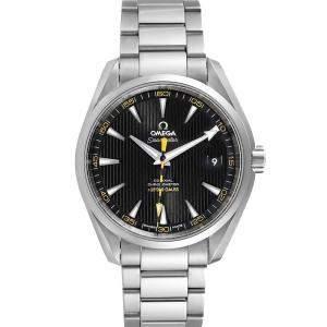 Omega Black Stainless Steel Seamaster Aqua Terra Co-Axial 231.10.42.21.01.002 Men's Wristwatch 41.5 MM