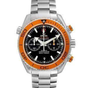 Omega Black Stainless Steel Seamaster Planet Ocean Chrono 600M 232.30.46.51.01.002 Men's Wristwatch 45.5 MM