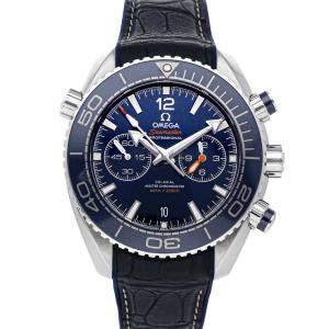 Omega Blue Stainless Steel Seamaster Planet Ocean 600m Chronograph 215.33.46.51.03.001 Men's Wristwatch 45.5 MM