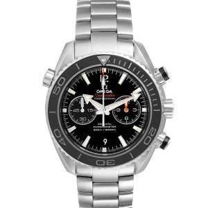 Omega Black Stainless Steel Seamaster Planet Ocean 600M 232.30.46.51.01.001 Men's Wristwatch 45.5 MM