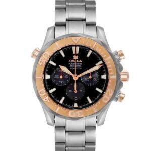 Omega Black 18K Rose Gold And Titanium Seamaster 300M 2294.52.00 Men's Wristwatch 41.5 MM
