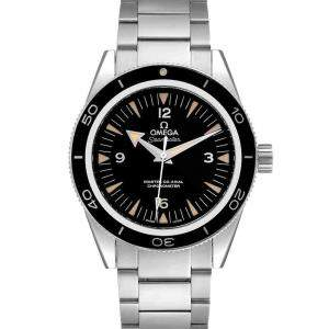 Omega Black Stainless Steel Seamaster 300 Master Co-Axial 233.30.41.21.01.001 Men's Wristwatch 41 MM