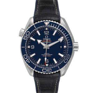 Omega Blue Stainless Steel Seamaster Planet Ocean 232.92.42.21.03.001 Men's Wristwatch 42 MM