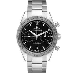 Omega Black Stainless SteelSpeedmaster 57 Co-Axial Chronograph 331.10.42.51.01.001 Men's Wristwatch 41.5 MM
